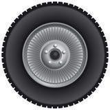 Het wiel van de vrachtwagen Royalty-vrije Stock Foto's