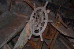 Het wiel van een oud schip Stock Fotografie