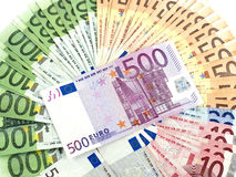 Het wiel van het geld Stock Foto