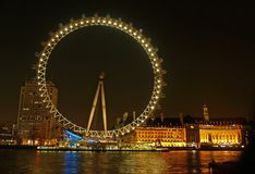 Het wiel van het millennium (het Oog van Londen) Stock Foto