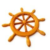 Het wiel van het schip Stock Foto