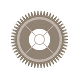 Het wiel van het silhouettoestel met pignon royalty-vrije illustratie