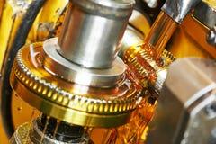 Het wiel van het tandtoestel het machinaal bewerken stock afbeeldingen