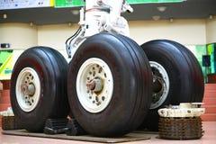 Het wiel van het vliegtuig Stock Fotografie