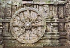 Het wiel van Konark Stock Foto's