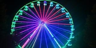 het wiel van het pretpark stock afbeelding