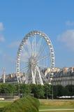 Het wiel van Rouede Parijs ferris Stock Foto's