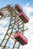 Het wiel van veerboten in park Prater in Wenen Royalty-vrije Stock Foto's