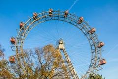 Het wiel van veerboten in park Prater in Wenen Royalty-vrije Stock Afbeelding