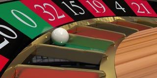 Het wielclose-up van de roulette Royalty-vrije Stock Afbeeldingen