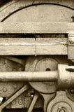 Het wielsepia van het staal Stock Foto's