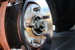 Het wielsysteem van het voertuig Stock Afbeelding