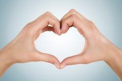 Het wijfje dient hartvorm in royalty-vrije stock afbeeldingen