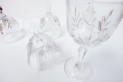 het wijnglas stelt samen Stock Afbeeldingen