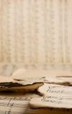 Het wijnoogst gebrande patroon van muzieknota's Royalty-vrije Stock Foto