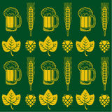 Het Naadloze Patroon van het bier Royalty-vrije Stock Foto