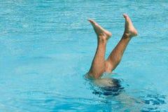 Het wijzen op van benen van water Royalty-vrije Stock Foto's