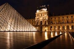 Het wijzen van op pool in de Binnenplaats van het Louvre Royalty-vrije Stock Afbeelding