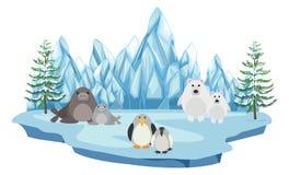 Het wild in het noordpoolland vector illustratie