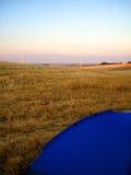 Het wilde kamperen met tent Stock Foto's