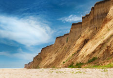 Het wilde strand van de Zwarte Zee Stock Fotografie