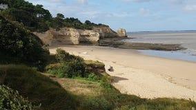 Het wilde strand van Gironde Stock Foto's