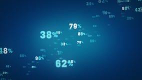 Het willekeurige Percentages Blauwe Zoemen vector illustratie