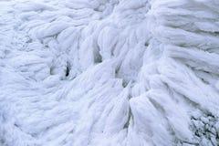 Het wind geschilderde Patroon van de Sneeuwtextuur op steenachtergrond, de Winter Royalty-vrije Stock Foto