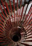 Het winden van staaltrap Royalty-vrije Stock Afbeeldingen