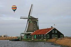 Het windmolenmuseum in Amsterdam stock afbeeldingen