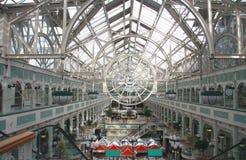 Het winkelcentrum van Dublin met transparant dak Royalty-vrije Stock Foto's