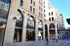 Het winkelcomplex van Mamilla in Jeruzalem Israël Royalty-vrije Stock Foto's