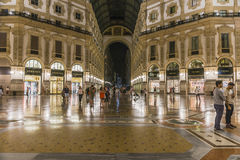 Het winkelcomplex van Milaan Luxuous Stock Foto