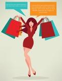 Het winkelen achtergrond vector illustratie