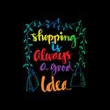Het winkelen is altijd een goed idee Royalty-vrije Stock Afbeelding
