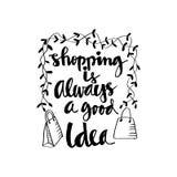 Het winkelen is altijd een goed idee Stock Afbeeldingen