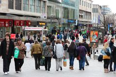 Het winkelen in Birmingham royalty-vrije stock foto
