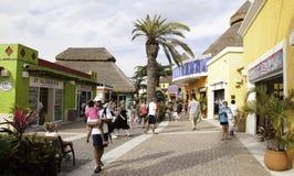 Het winkelen in de Haven van Cozumel Mexico Royalty-vrije Stock Foto's