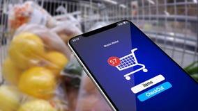 Het winkelen in de online opslag Financiële boekhouding van aankopen door telefoon 17 vector illustratie