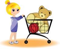 Het winkelen. De opslag van het stuk speelgoed Stock Foto