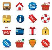 Het winkelen de Reeks van het Pictogram Stock Afbeelding