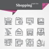 Het winkelen Deel II royalty-vrije illustratie