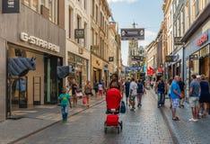 Het winkelen in een Nederlandse straat Royalty-vrije Stock Fotografie