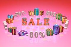 Het winkelen en de Dag van giftenvalentijnskaarten (kortingen, het dumpen, %, percenten Royalty-vrije Stock Foto's