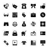 Het winkelen en Handels Vectorpictogrammen 4 van Glyph vector illustratie