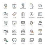 Het winkelen en handelspictogrammen Royalty-vrije Stock Foto's