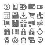 Het winkelen en Kleinhandels Vectorpictogrammen 2 Royalty-vrije Stock Afbeelding