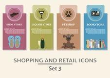 Het winkelen en kleinhandelsetiketten Stock Afbeelding