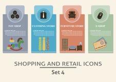 Het winkelen en kleinhandelsetiketten Royalty-vrije Stock Afbeeldingen