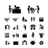 Het winkelen en leveringspictogram Royalty-vrije Stock Fotografie